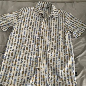 Mens M North Face Button Down Shirt